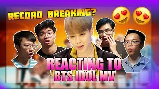 MY BODY IS READY!!! BTS (방탄소년단) IDOL OFFICIAL MV REACTION (OurKrew Reacts)