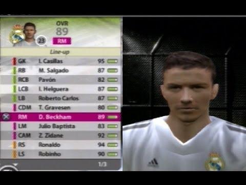 fifa 06 real madrid squad casillas roberto carlos beckham