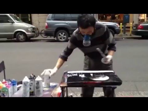 Street art painting √ Street art painting  with spray painting √ Spray painting ! (New York) !!!