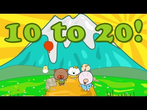 Number Song 10-20 | Counting from 10-20 | The Singing Walrus