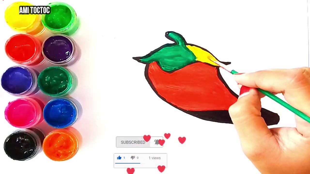 Craft Glitter Chili With Beads Coloring And Drawing For All