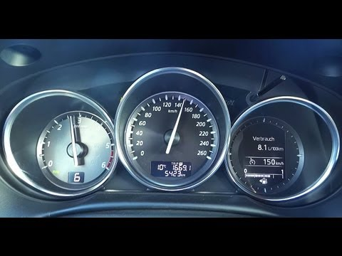 mazda cx5 awd diesel fuel consumption test - youtube