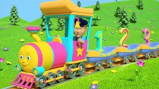 Numbers Train | Preschool Learning Videos | Nursery Rhymes for Kids | Cartoons by Little Treehouse