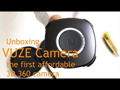 Unboxing of the Vuze Camera, the first affordable 3D 360 camera with 4k resolution