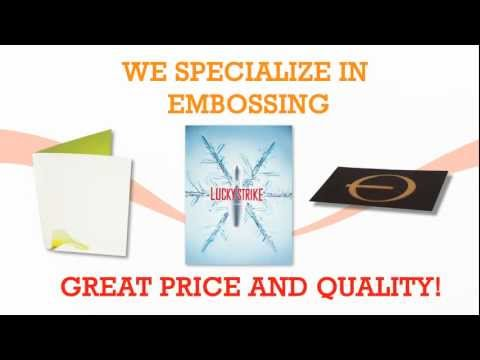 Embossing Services in Los Angeles by Gold Image Printing