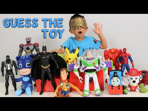 Thumbnail: GUESS THE TOY Game Challenge Kids Surprise Toys Disney Toys Superheroes Power Rangers Ckn Toys