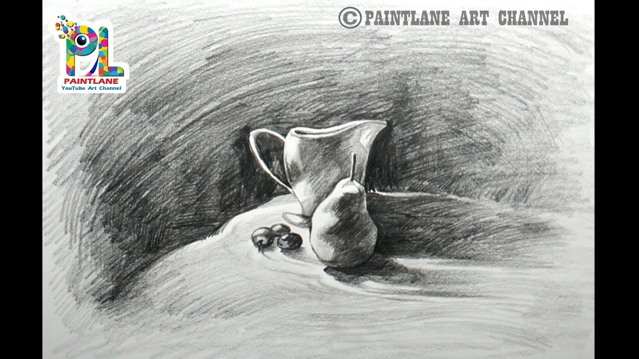 Learn simple still life drawing and shading with simple pencil strokes