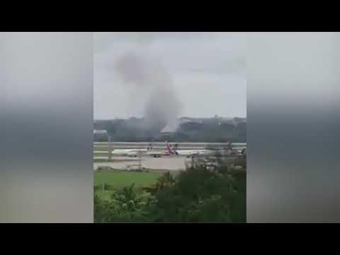 Avión de Cubana de Aviación se estrella en La Habana con 104 pasajeros