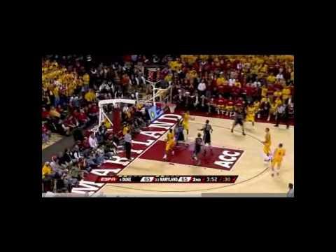 Maryland Beats Duke Highlights 3/03/2010