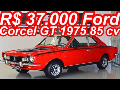 PASTORE R$ 37.000 Ford Corcel GT 1975 aro 13 MT4 FWD 1.4 85 cv 11,5 mkgf 145 kmh 0-100 kmh 18 s