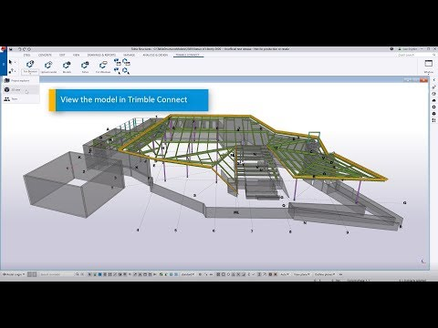 Tekla Structures 2020 to Trimble Connect Workflow