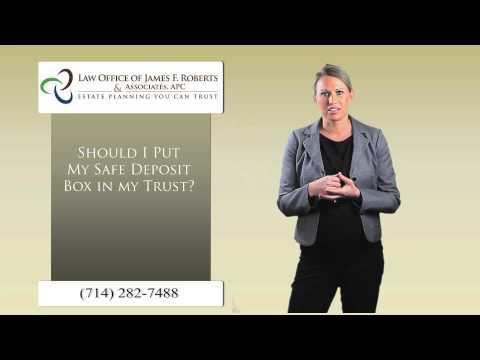 safe deposit box in trust