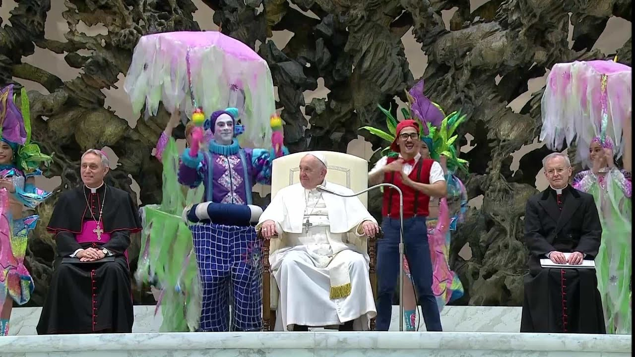 Sexuell suggestiv dans inför påven.