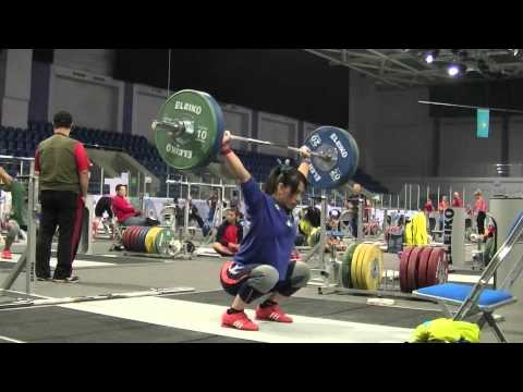 2014 wwc training hall - friday - Tatiana Kashirina, Dmitry Klokov, Hsing-Chun Kuo, etc.