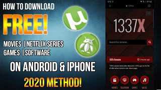 How to DOWNLOAD FREE MOVIES, NETFLIX SERIES, GAMES, & other things using your MOBILE PHONES!!!