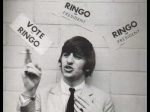 WE WANT RINGO - FOR PRESIDENT! (RARE ROLF HARRIS NOVELTY)