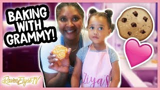 Two-Year Old Bakes Cookies!? Ziya & Grammy Vlog