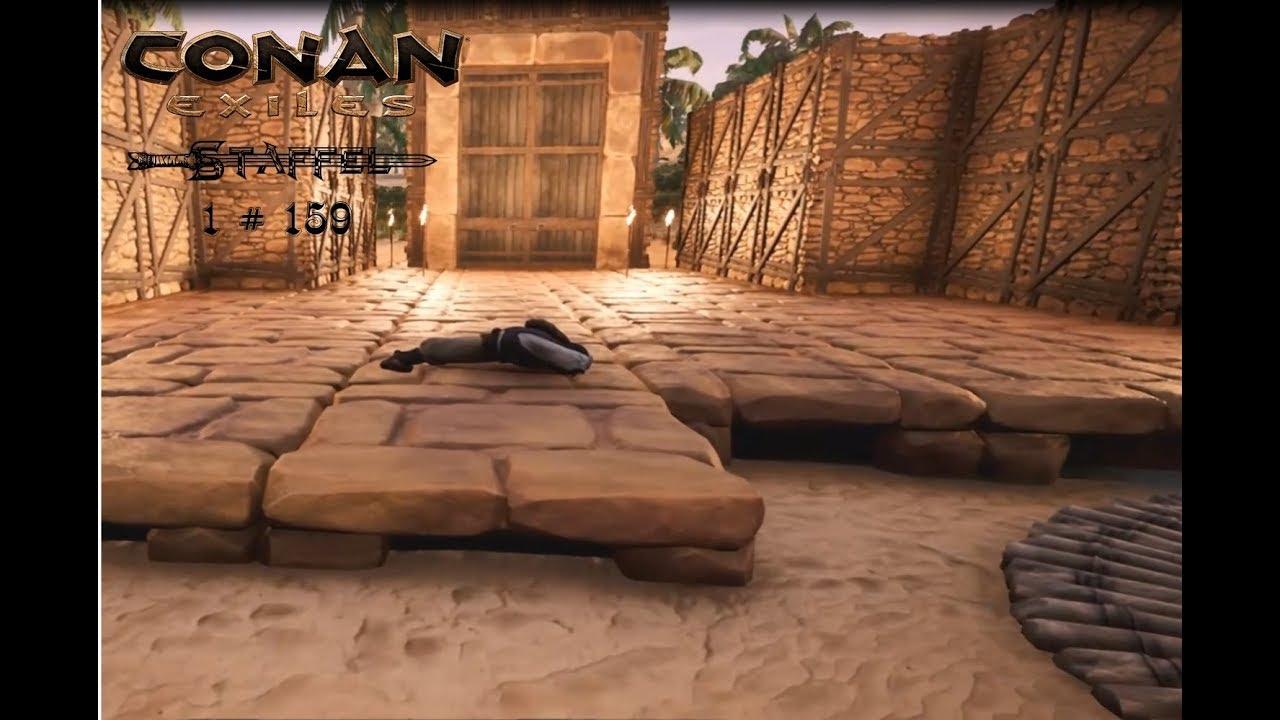 Conan Exiles deutsch 1 #159 Tor setzen - Let´s Play Gameplay German ...