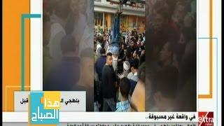 شاهد.. أهالي الهرم يعلقون حرامي في عمود إنارة