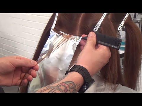 МЕЛКОЕ МЕЛИРОВАНИЕ - окрашивание волос. Обучение парикмахеров Артем Любимов.