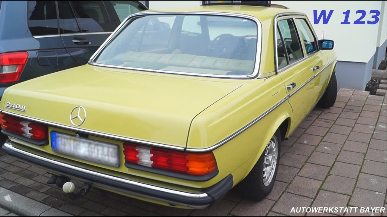 Мерседес W123 дизель 1983 года/Mercedes W123 diesel 1983 of the .