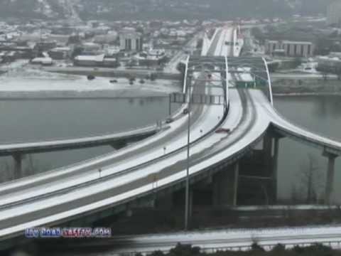 The case for de-icing equipment on the I-64 Fort Hill Bridge in Charleston, WV
