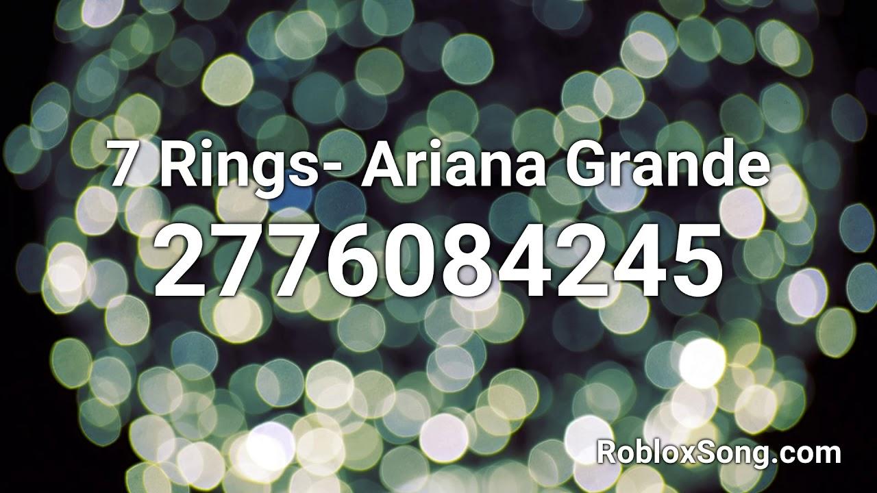 7 Rings Ariana Grande Roblox Id Music Code Youtube