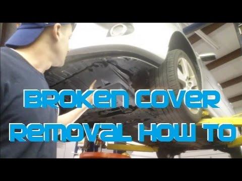 Mazda3 Broken Splash Shield Undercover Removal  YouTube