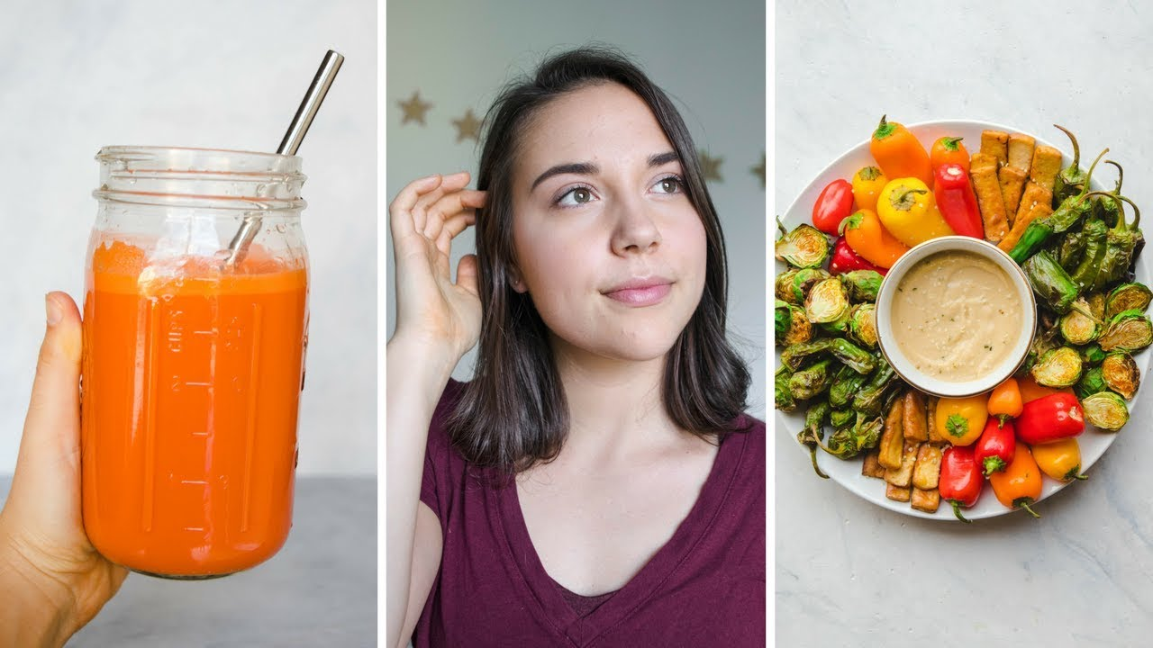What I Eat in a Day + My Natural Makeup Routine (Vegan)