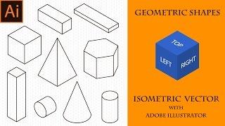 Как создать геометрические фигуры в Иллюстраторе. Уроки Векторной Изометрии в Adobe Illustrator.