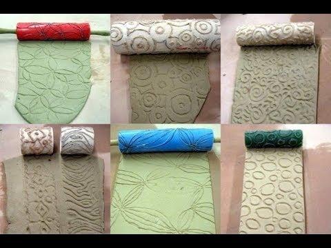 textura com rolo de espuma