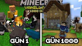 İleri Seviye Minecraft Özellikleriyle 1000 Gün'de Yaptıklarımız !