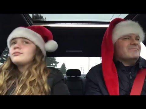 Daughter/dad sing Christmas song: Christmas in Hollis Carpool Karaoke