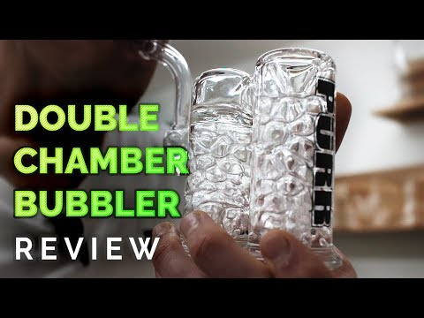 how-to-use-a-double-chamber-glass-bubbler-bong-&-review-|-by-purr