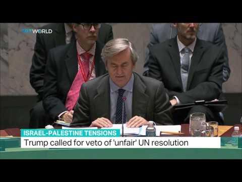 "Israel-Palestine Tention: Trump called for veto of ""unfair"" UN resolution"