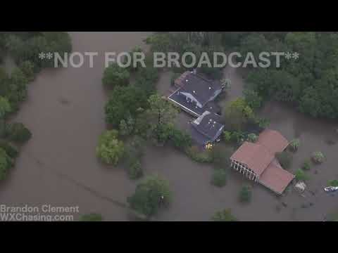 8-29-2017 Friendswood, League City, Dickinson, Nassau Helicoopter footage