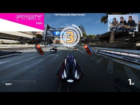 Fast Racing Neo Wii U - E3 2015 Gameplay 60FPS