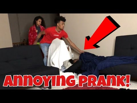 ANNOYING PRANK ON ROOMMATES!!!