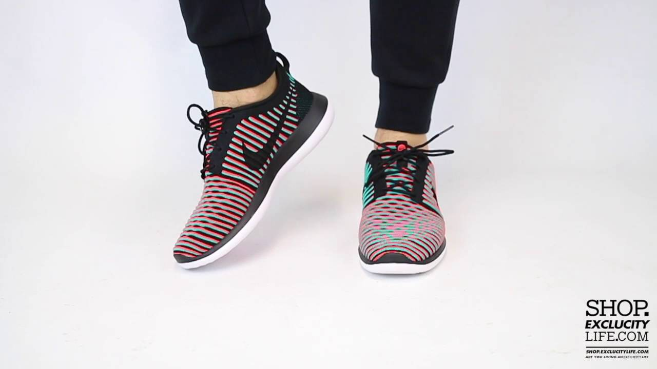 Nike Roshe Two Flyknit Bright Crimson On feet Video at Exclucity