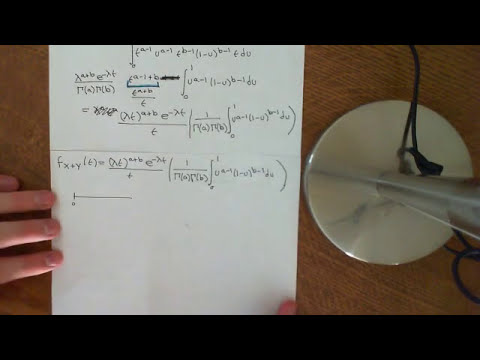 Convolution of two Independent Gamma Distributions Part 3
