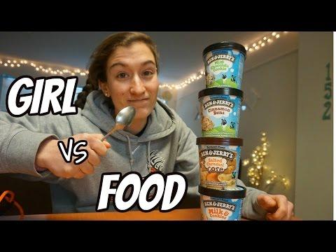 Girl VS Food | Ben & Jerry's Food Challenge! (3,000+ Cals)
