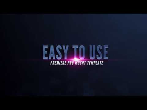 Rampant Trailer Titles 02 Essential Graphics Template for Premiere Pro