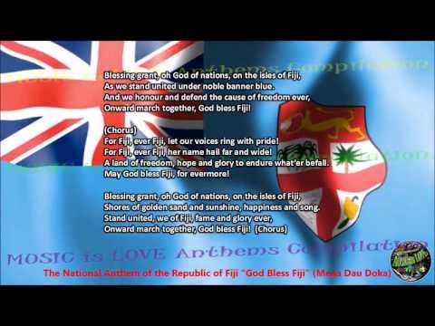"Fiji National Anthem ""God Bless Fiji"" with vocal and lyrics English"
