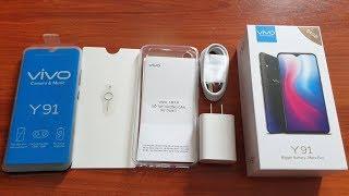 Mở hộp Vivo Y91 giá rẻ Pin hơn 4000mAh, đánh giá ưu nhược điểm
