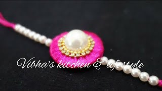how to make Rakhi at home | DIY Rakhi | Raksha Bandhan | Silk thread Rakhi | Rakhi