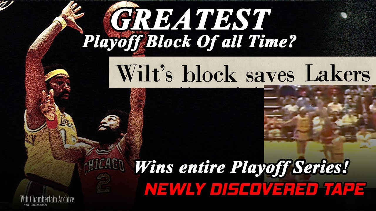 Wilt Chamberlain - Greatest Forgotten Block in Playoff History! (CLUTCH!)