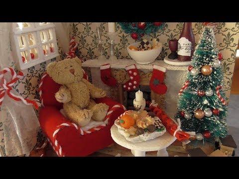 Miniatur Weihnachtszimmer #DIY #How to Teil 1 -  Wände und Boden