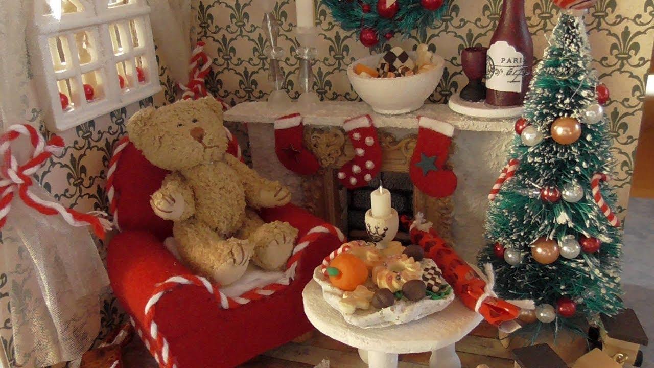 Miniatur Weihnachtszimmer #DIY #How to Teil 1 - Wände und Boden ...