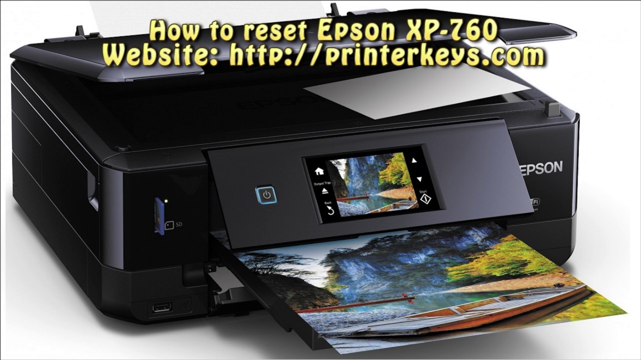 Reset Epson XP 760 Waste Ink Pad Counter
