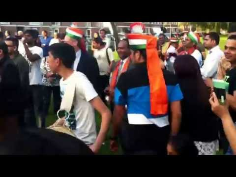 NRIs celebrating Narendra Modi's victory in Queensbury, London